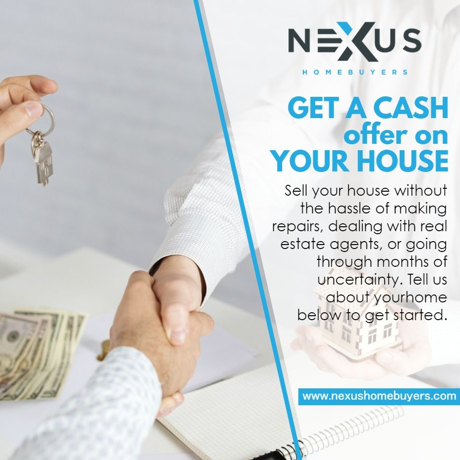 Get a cash offer on your house sell your house without
