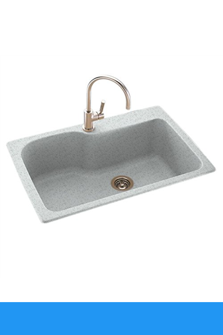 Swanstone Ks03322sb 053 Solid Surface 1 Hole Drop In Double Bowl Kitchen Sink 33 In L X 22 In H X 10 In H Tahiti G Double Bowl Kitchen Sink Sink Kitchen Sink