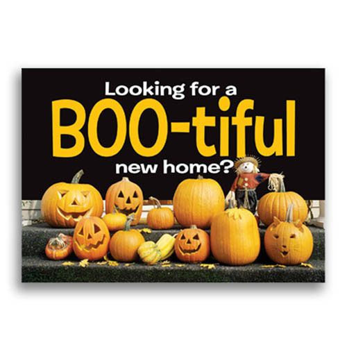 How Does Refinancing Work >> Real Estate Marketing Halloween Postcards | Real Estate ...