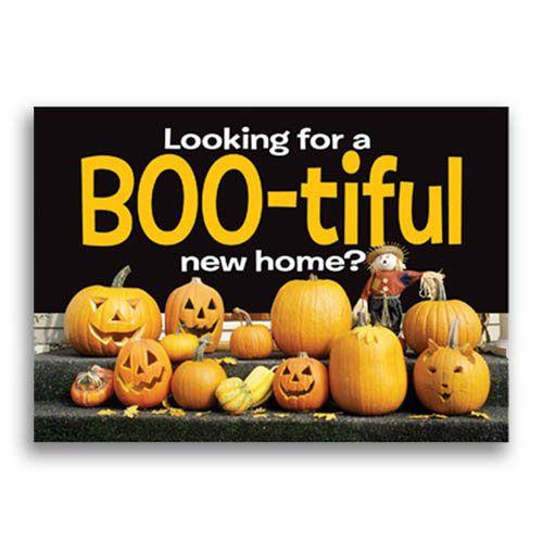 Real Estate Marketing Halloween Postcards