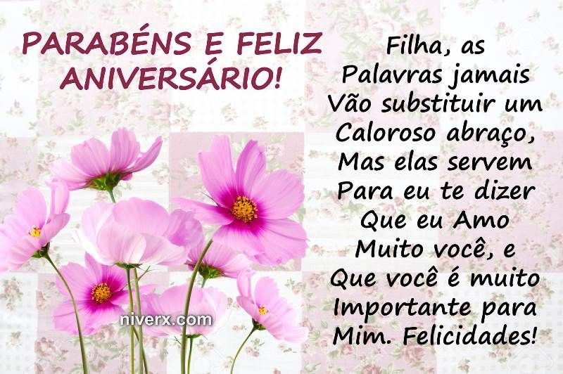 Frases Para Aniversário De Filha Celular Whatsapp Facebook