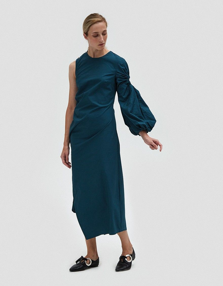 Farrow marquis dress in teal