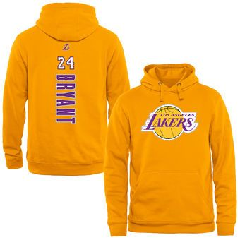 Kobe Bryant Los Angeles Lakers Gold Backer Pullover Hoodie Lakers Kobe Lalakers Los Angeles Lakers Lakers Lakers Team