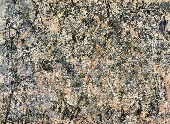 Titel: Lavender mist nr.1 Kunstenaar: Jackson Pollock Datum: 1950 Materiaal: Olieverf op doek Museum: National Gallery of Art, Washington Stroming: Abstract expressionisme
