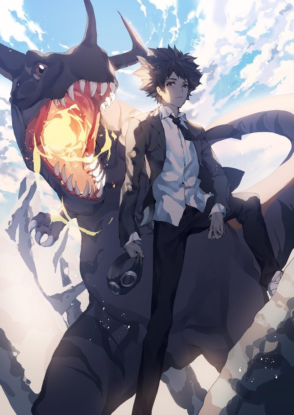 High School Taichi (and Greymon) [Digimon] Digimon