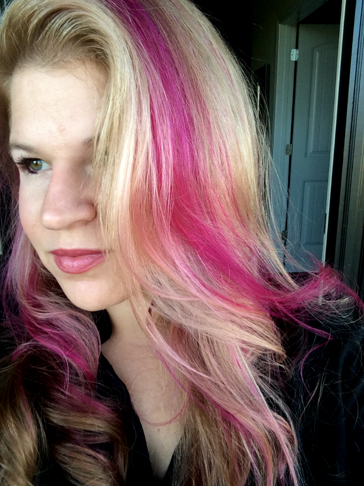 Diy hot pink highlights here is what i used do it yourself today diy hot pink highlights here is what i used solutioingenieria Images