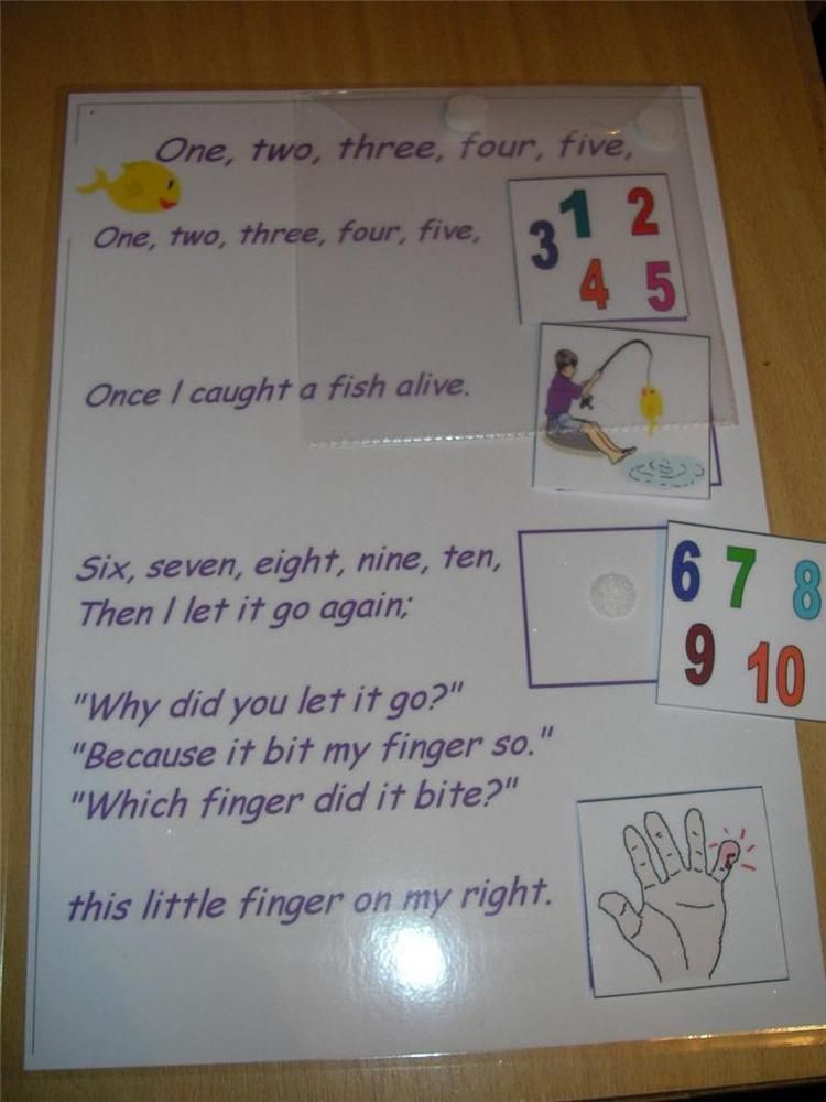 12345 FISH ALIVE NURSERY RHYME STORY BOARD GAME in Toys & Games, Educational Toys, Special Needs & Autism   eBay
