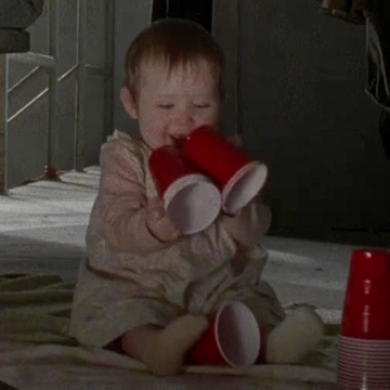 The Walking Dead/Judith...OMG, so adorable playing with her cups!