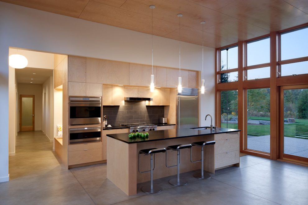 Seattle Reach In Pantry Modern Kitchen With Wood Ceiling