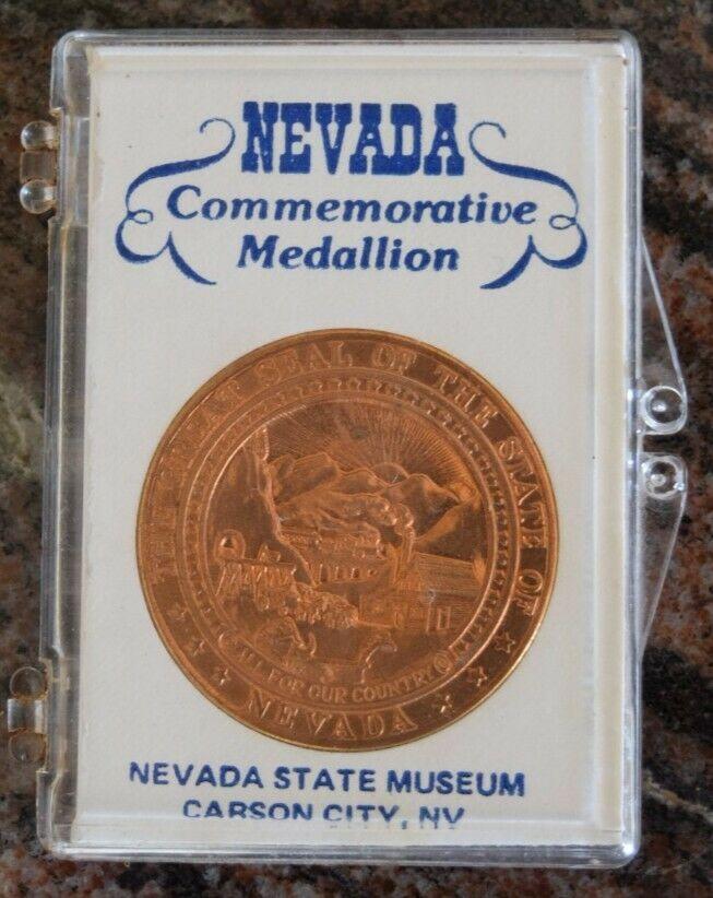 nevada commemorative medallion coin