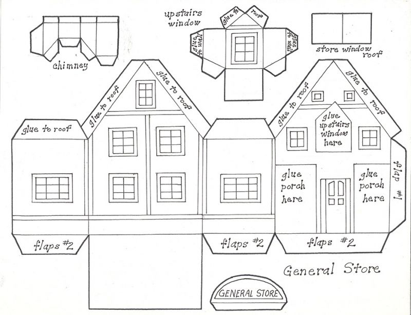 Christmas Village in Paper | Paper house template, House template