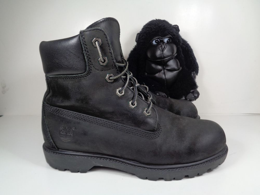 all black leather timberland boots