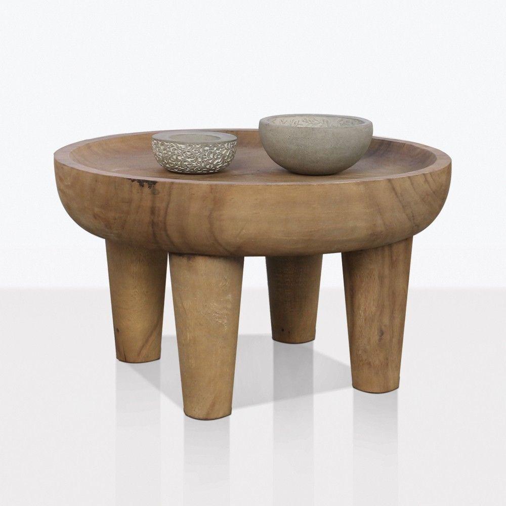 African Table Medium Side Table Coffee Table Wood