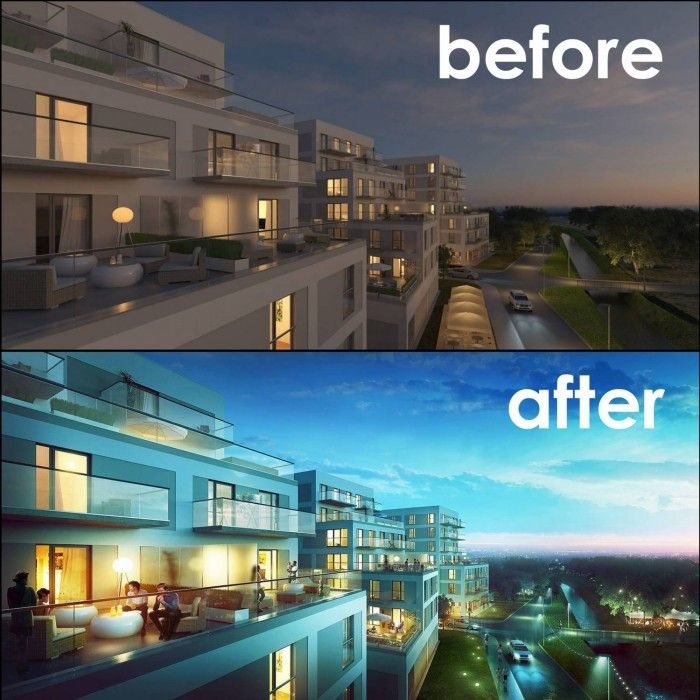 After Architectural Post Production Render