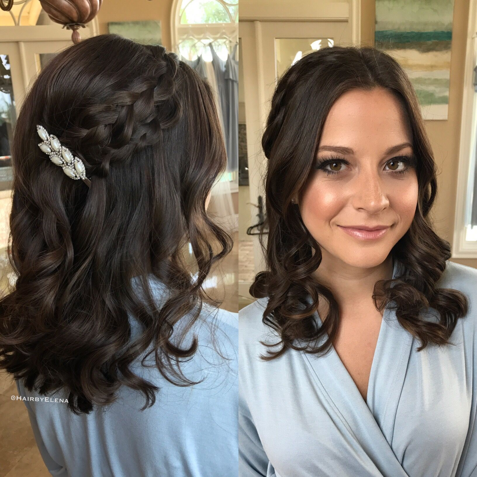 wedding hair , boho , bohemian , wavy hair , beach waves