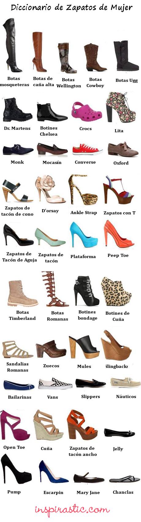9289cb315bbc Resultado de imagem para zapatos español vocabulario | Membuat ...