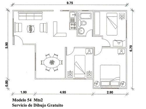 Planos De Casas B Sicas 500 375 Plant