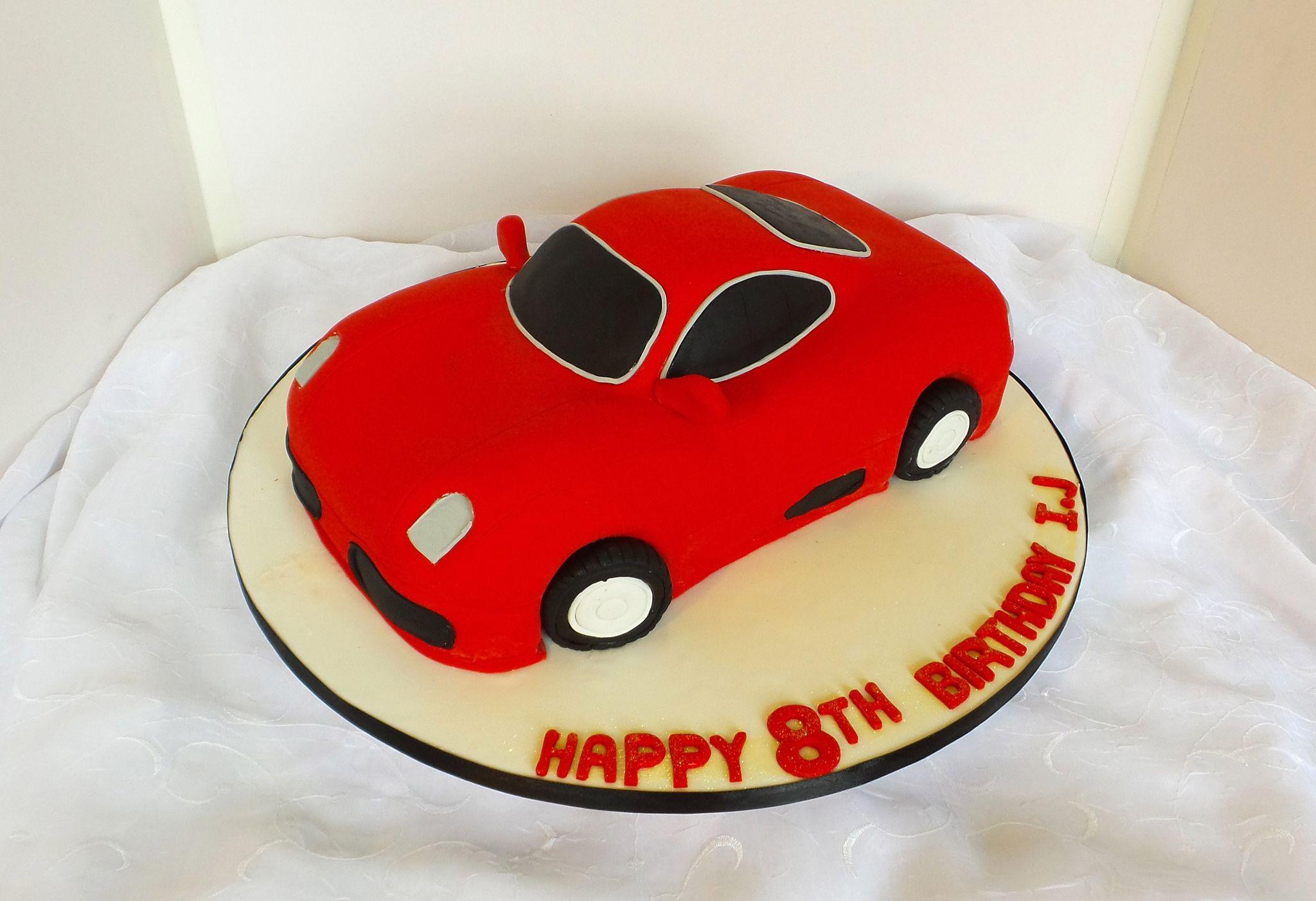 Wondrous Red Car Shaped Birthday Cake With Images Cars Birthday Cake Funny Birthday Cards Online Elaedamsfinfo