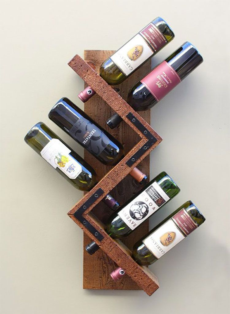 Portabottiglie vino fai da te 05 | Riciclo Creativo | Pinterest