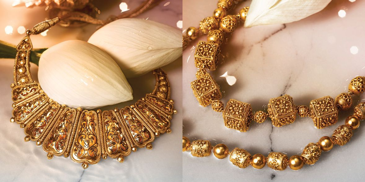 Designer Gold Divyam, Temple Jewellery Online | Tanishq