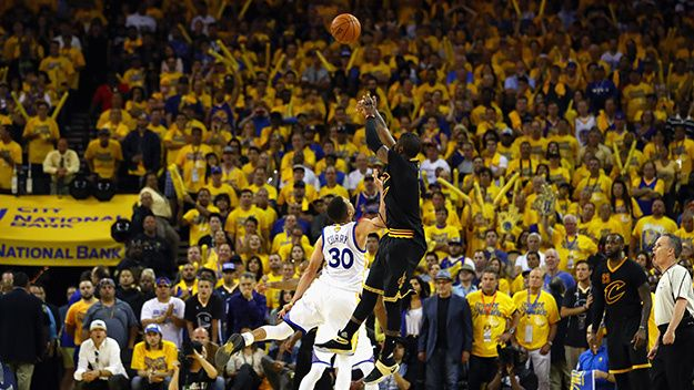 Kyrie Irving hits the game winning 3 to beat the Golden State ...