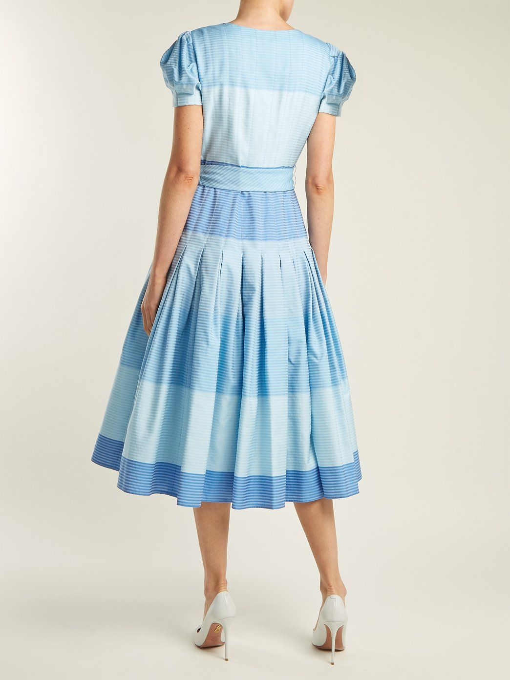 Stripe jacquard panelled dress Carolina Herrera wKNWB