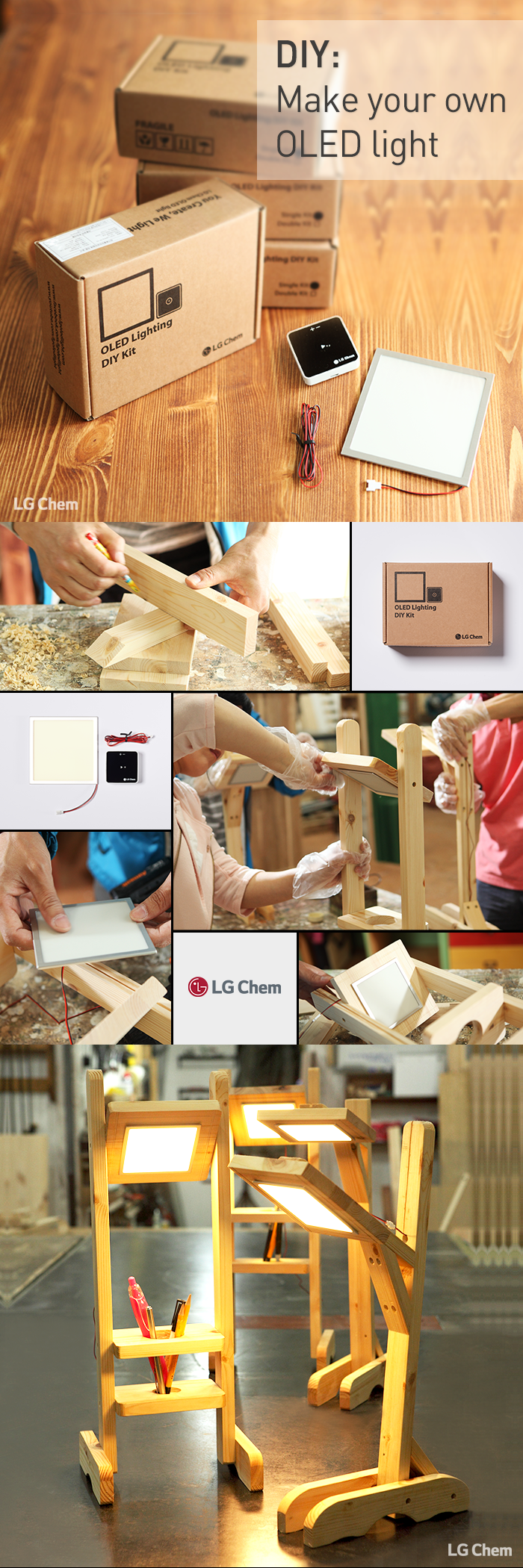 Turn your inspiration into your own OLED luminaire with LG Display OLED lighting DIY Kit. You Create, We Light. Check out Organic Lights at http://www.organic-lights.com/en/lg-display-do-it-yourself-kit.html