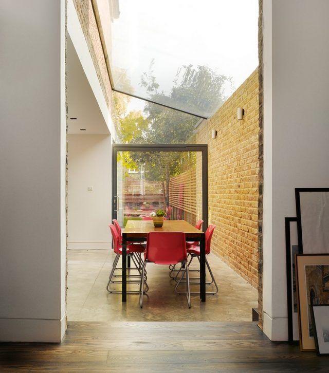 Extension de maison avec toit en verre en 20 idées du0027aménagement - maison toit en verre