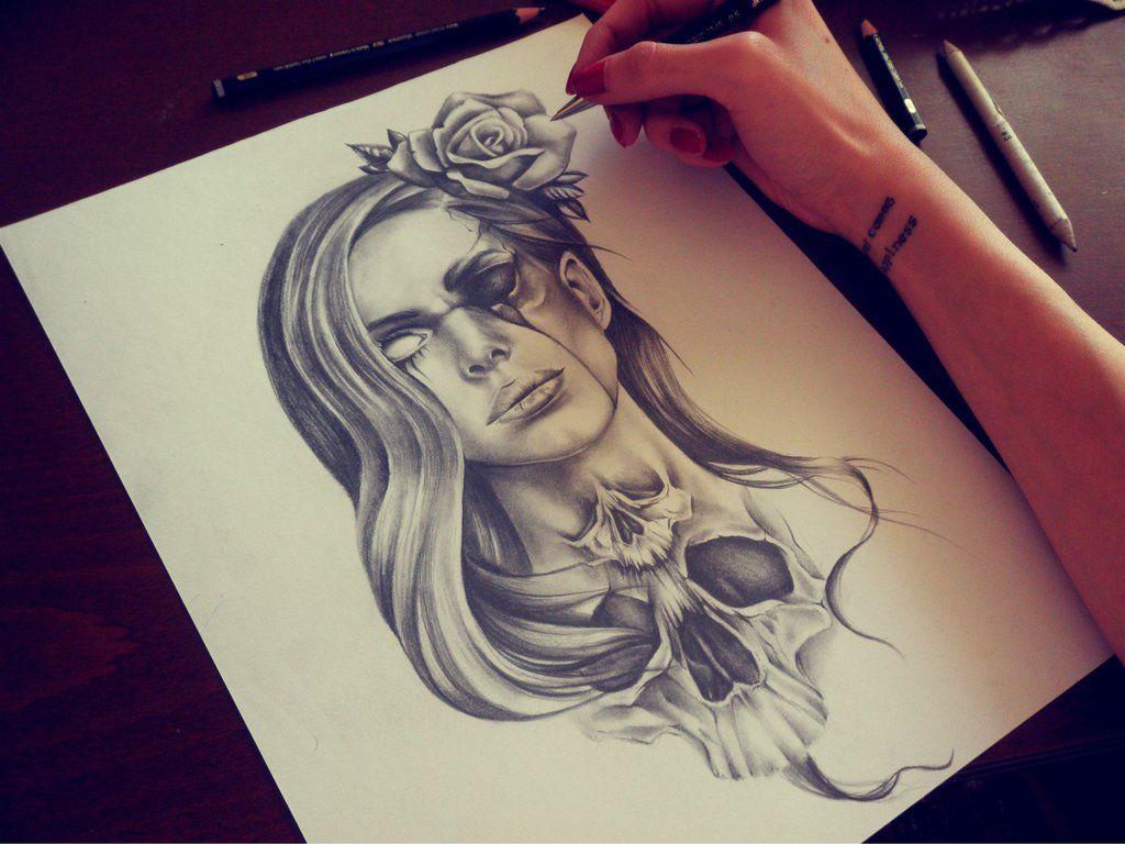 Macabre lana by eirikiss on deviantart draiwing for Girlfriend tattoo designs