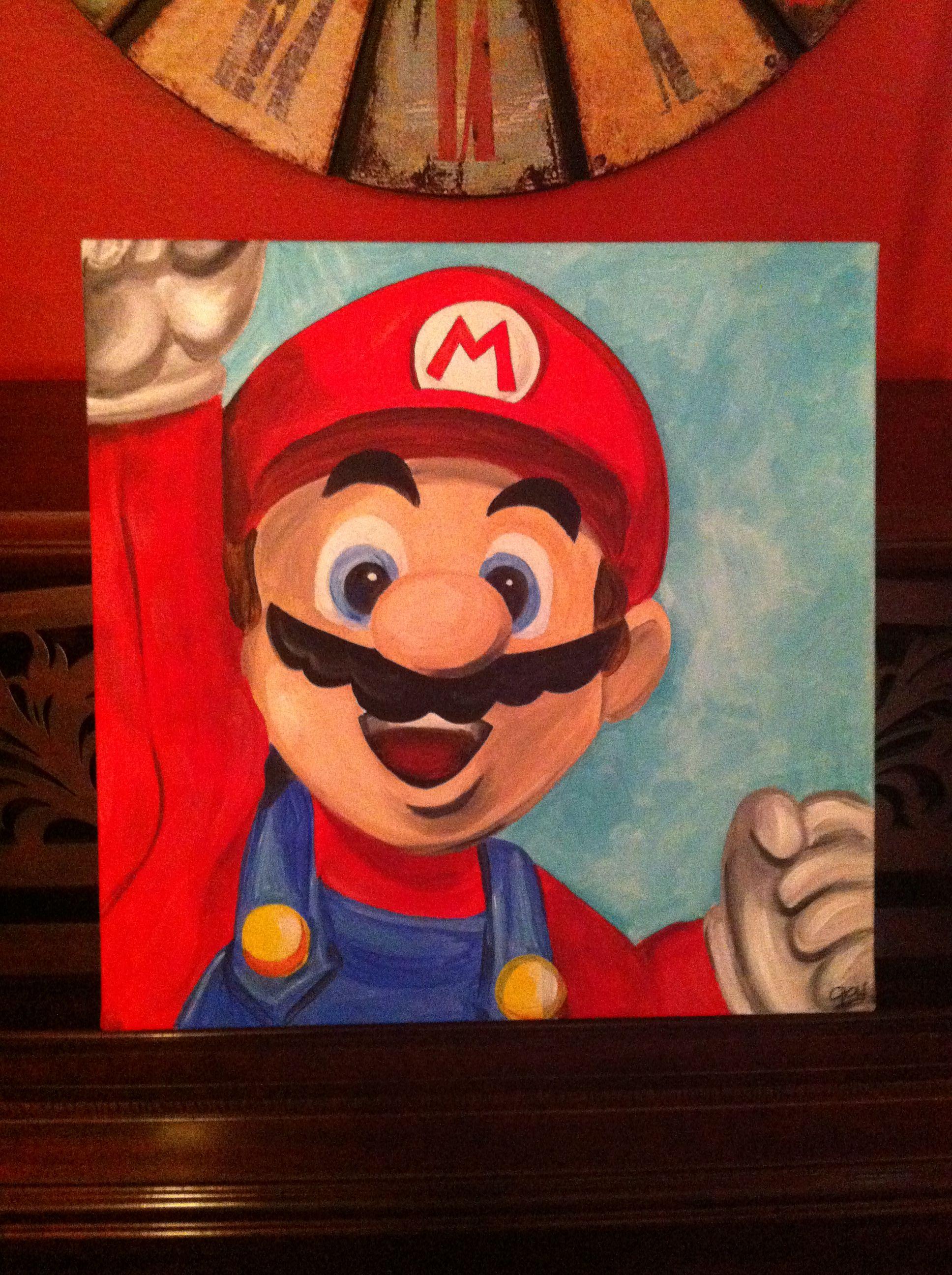 Mario Painting Google Search Paint Mario Art