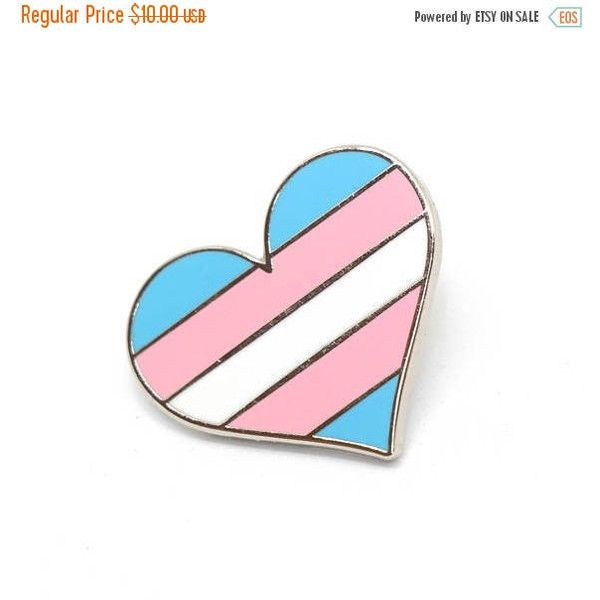 2d26fffd6 SALE-PRIDE MONTH Transgender pride pin, transexual pin, Gay lapel pin,...  ($7) ❤ liked on Polyvore featuring jewelry, brooches, enamel jewelry, heart  ...