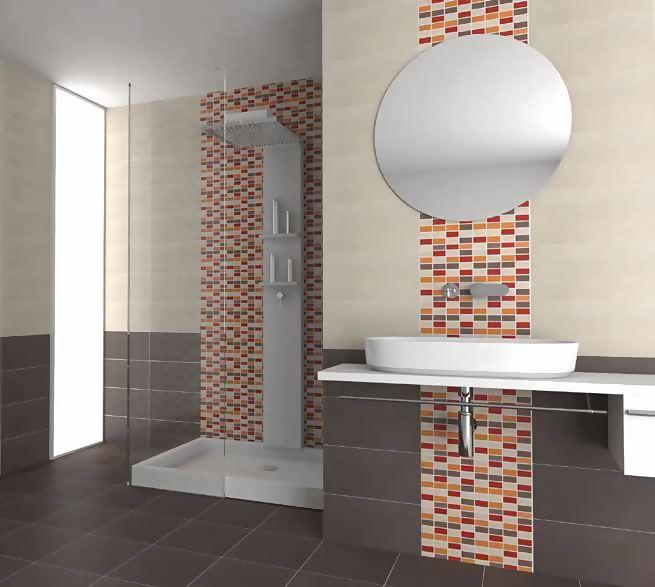 Resultado de imagen para pisos y azulejos para ba os peque os ba os pinterest showroom - Azulejos pequenos para banos ...