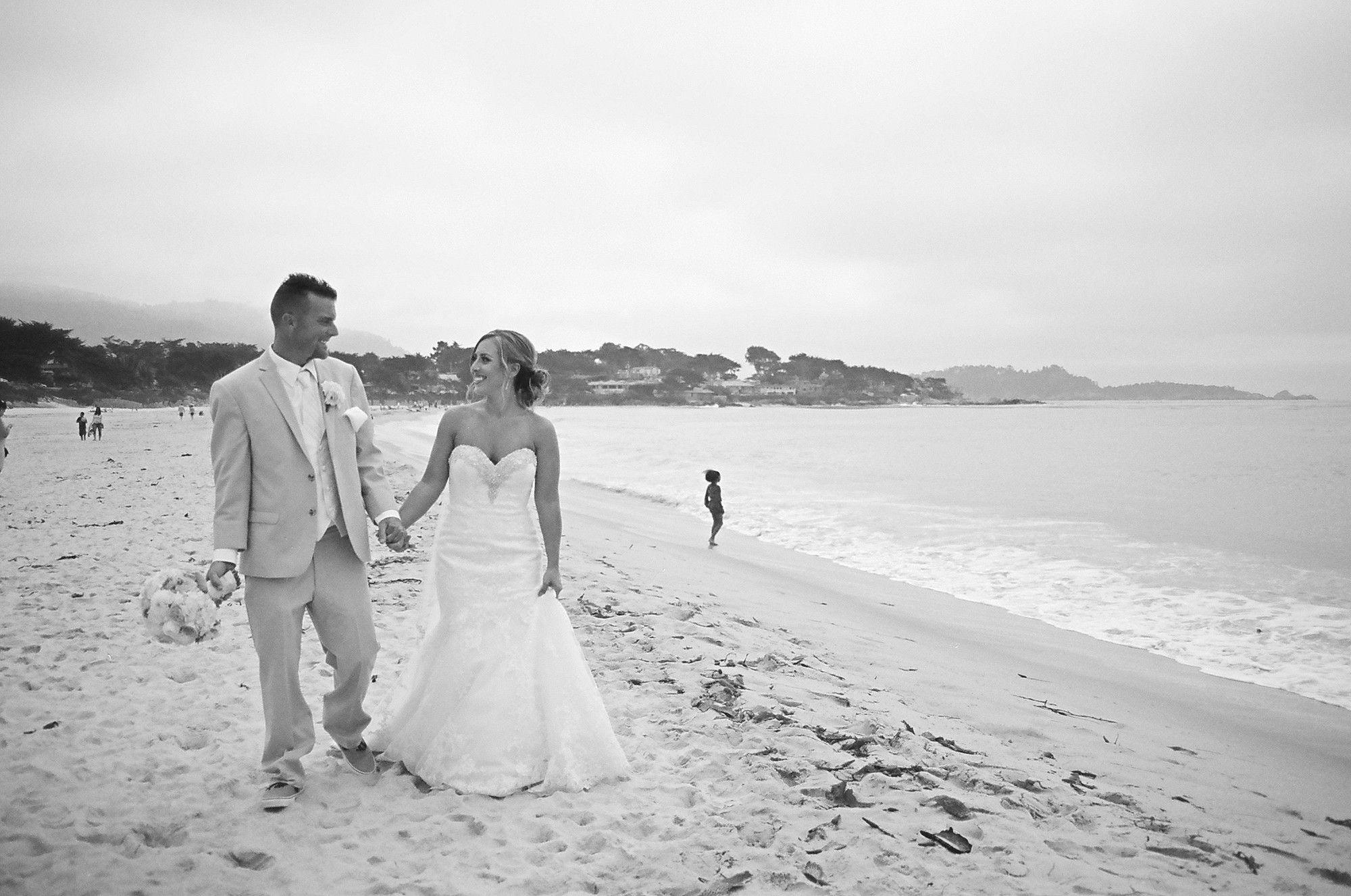 A Beach Wedding at Carmel Beach in Carmel-by-the-Sea, California