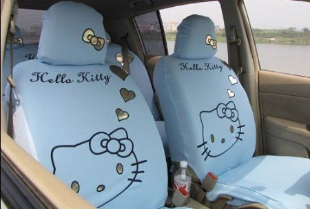 Wondrous Hello Kitty Car Seat Covers In Light Blue Hello Kitty Car Ibusinesslaw Wood Chair Design Ideas Ibusinesslaworg