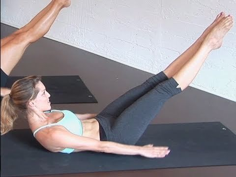 Pilates For Beginners 100s Ab Exercise Pilates For Beginners Pilates Abs Abs Workout