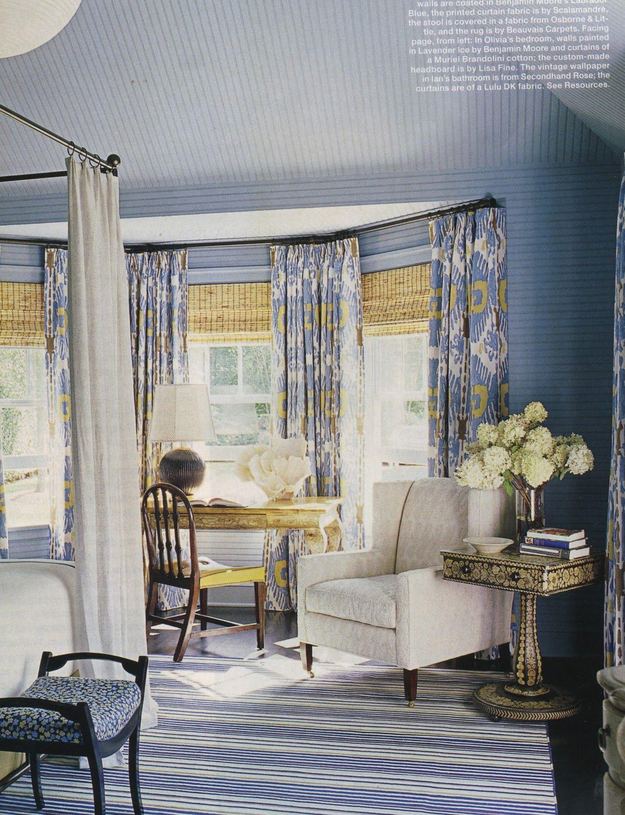 Layering Window Treatments Yellow Gray Bedroom Blue