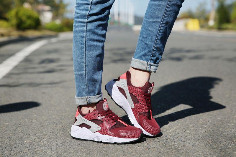 online retailer 7dca7 73dfb  womens  running  shoes Nike Air Huarache Deep Burgundy On Feet