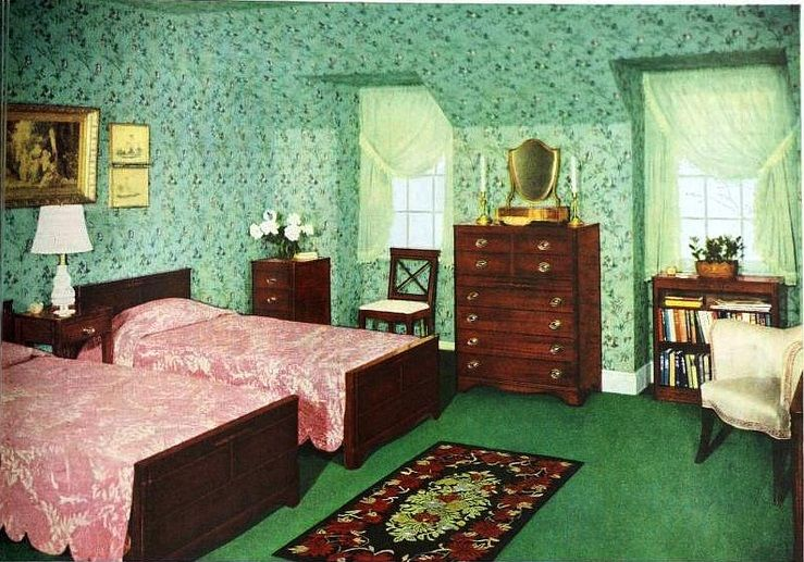 Pin by nina cathrine nergaard on 1940s bedroom home for Vintage hotel decor