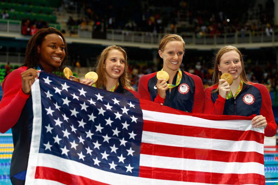 Simone Manuel, Kathleen Baker, Dana Vollmer, Lilly King: Women's Medley Relay Swimming