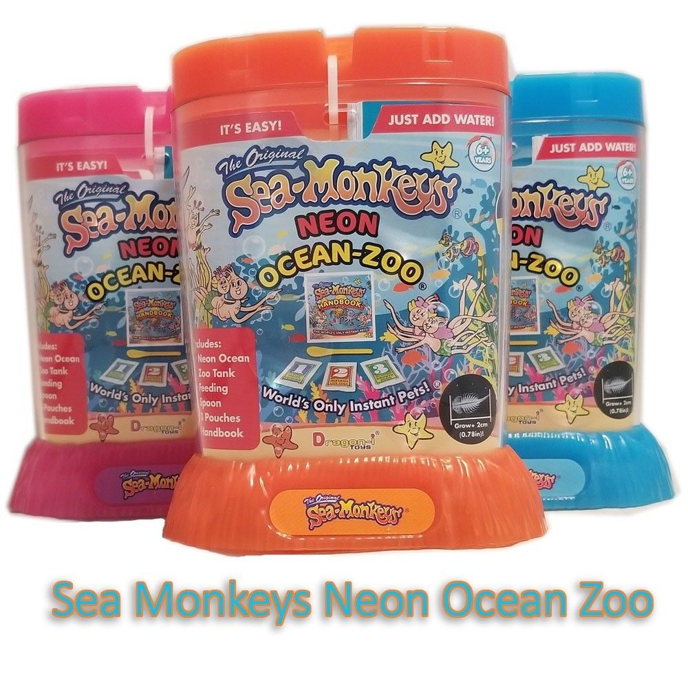 Science And Nature 31743 Amazing Live Sea Monkeys Neon Ocean Zoo Marine Monkey Tank Aquarium Habitat Buy It N Sea Monkeys Tanked Aquariums Farm Animal Toys