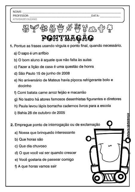 Pin Em Portugues 3 Ano
