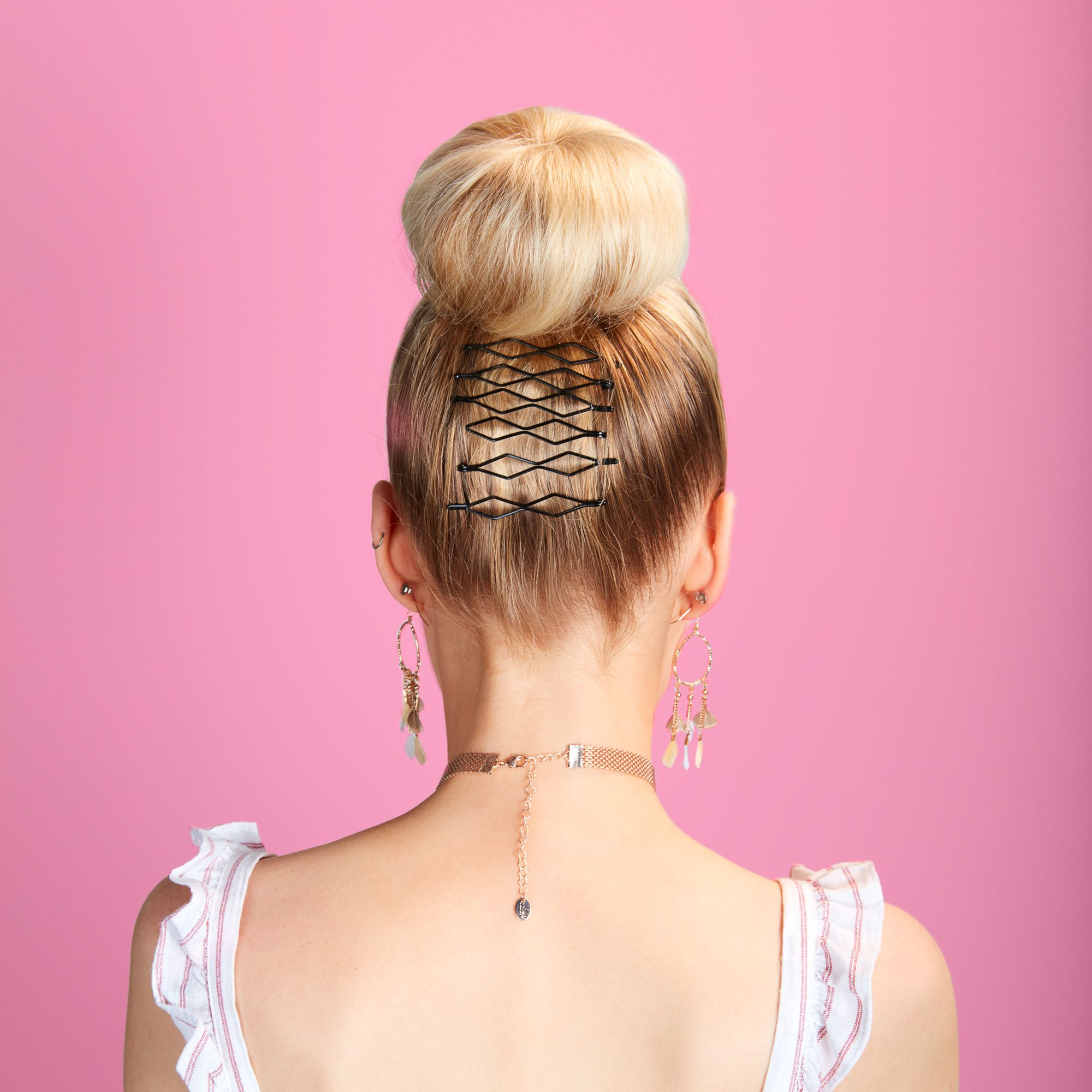 Add some cute clips to your bun for standout style!! Shop hair