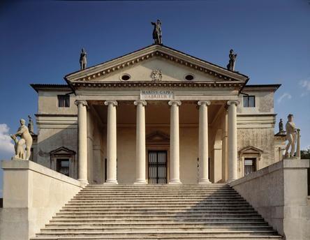 """Vicenza (Italy) Villa Almerico Capra """"La Rotonda"""" (1566–70 built by Andrea Palladio for Paolo Almerico; completed after 1580 by Vincenzo Scamozzi)."""