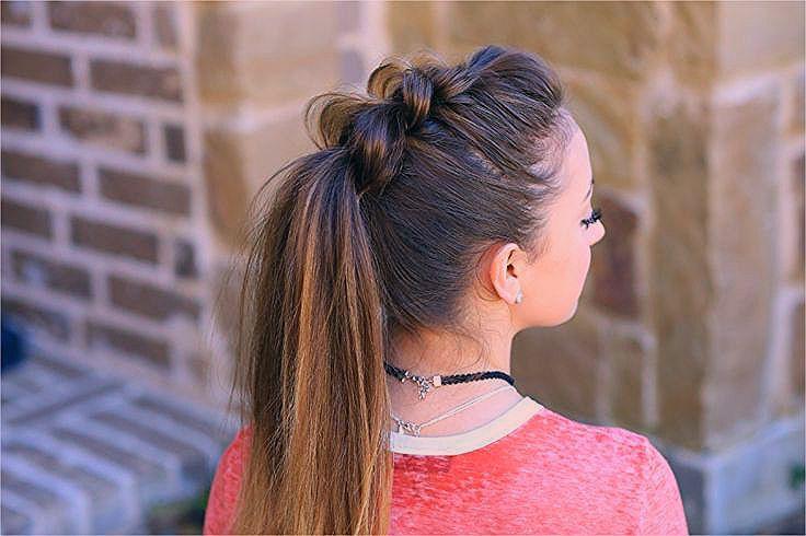 Dutt Kinderfrisuren Cute Ponytail Hairstyles Nice Pull Thru PonytailSimple Hairstyles  Simple Hairs  Beauty