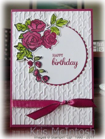 Handmade Birthday Card Featuring Petal Passion Suite By Stampin Up