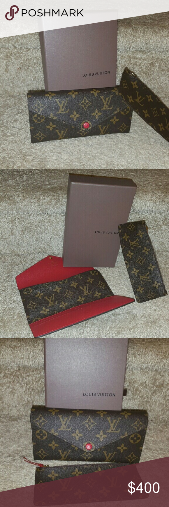 Louis vuitton jospehine wallet Excellent conditon Josephine wallet  comes with original box and dust bag well taken care of smoke free home comes with certificate of authentication serious inquiries please Louis Vuitton Bags Wallets