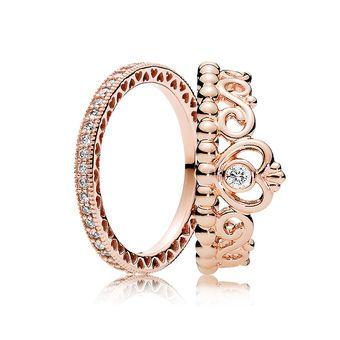Pandorarose Gold Princess Ring