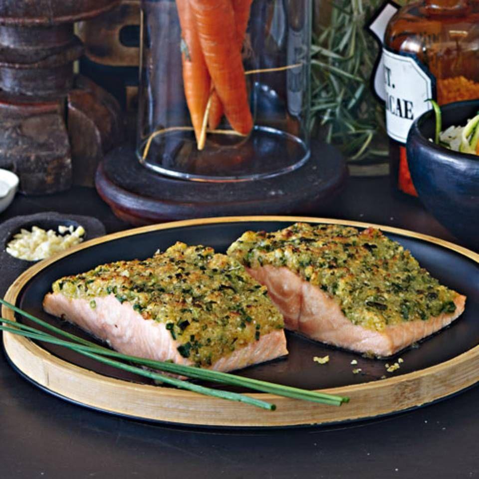 Fisch unter der Kräuterkruste