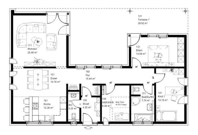 Ideenfindung | bungalow u form | Pinterest | Lebensstil, Haus und ...