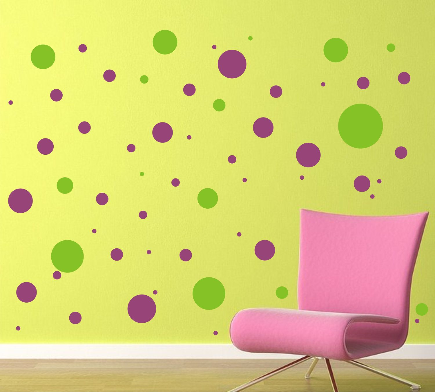 Polka Dot Vinyl Decals - Vinyl Wall Art - Fun for a Bedroom or ...